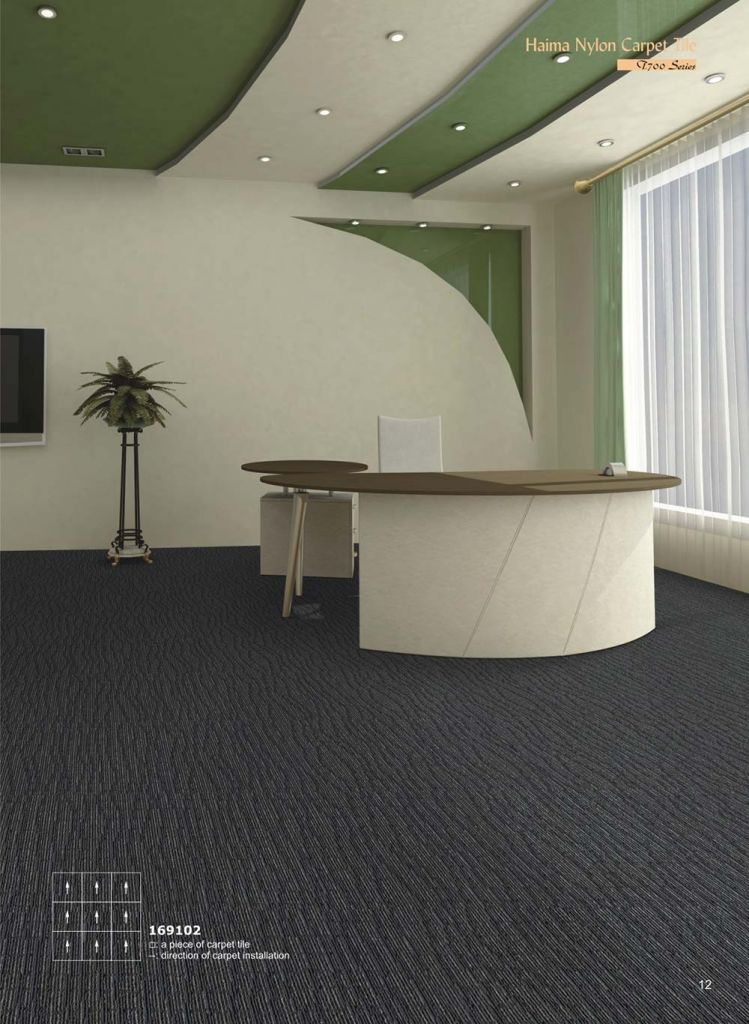 Stock Nylon Jacquard Carpet Rug for Office Floor Tile/Cube Carpet Tiles for Office
