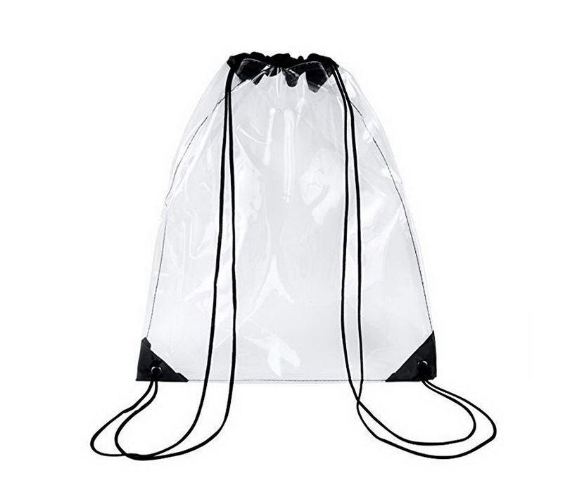 Custom Transparent PVC DrawString Backpack