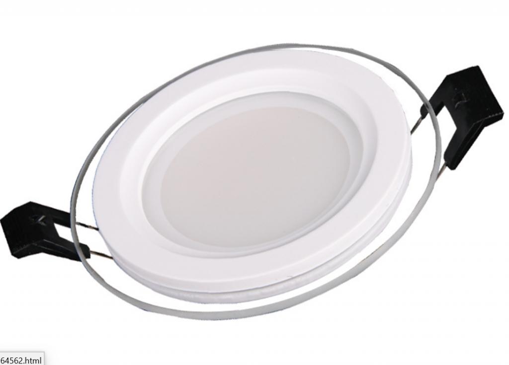 Glass Border Led Panel Light-Round