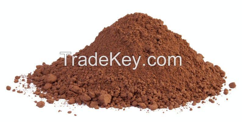 Iron trioxide Fe2O3 brown colour