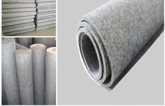 factory industrial virous style grey wool felt