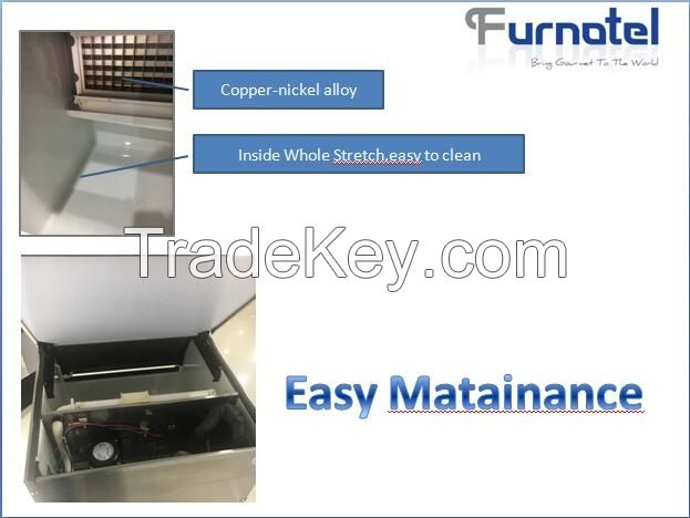 Furnotel Commercial Ice Machine Ice Cube Maker with Blue Light in UAE