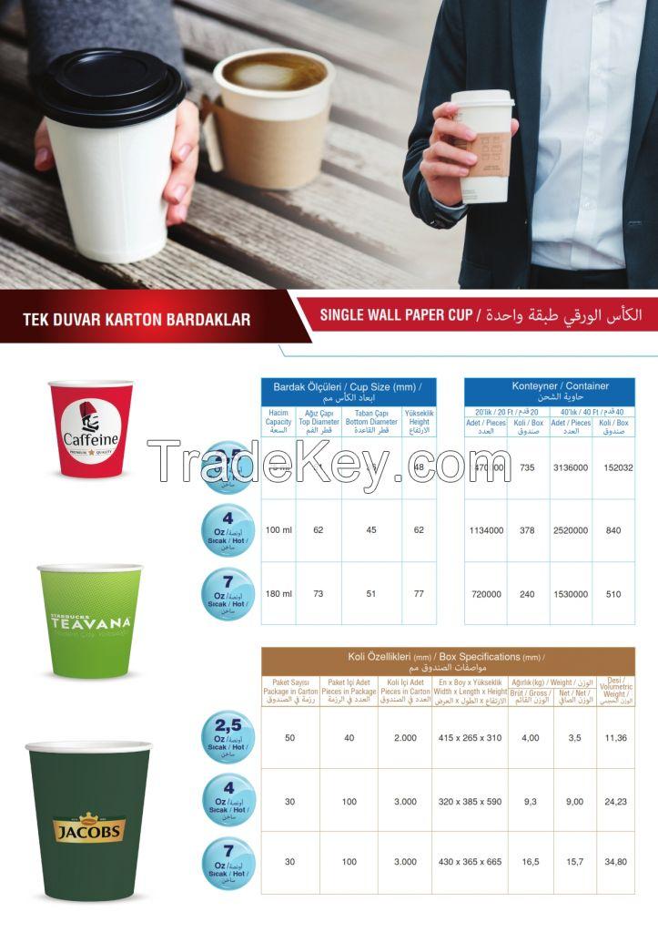 paper cups 7 - 8 - 9 -16 oz