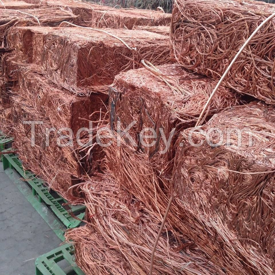 99.99% MILBERRY COPPER SCRAP COMPACTED IN SQUARE SHAPE