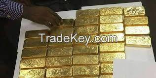 Au Gold Bars And Rough Uncut