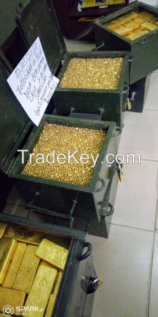 Gold Nuggets / Gold Bars / Au Gold
