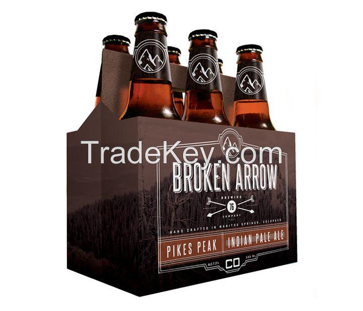 custom printed 6 beer pack, 4 pack carrier