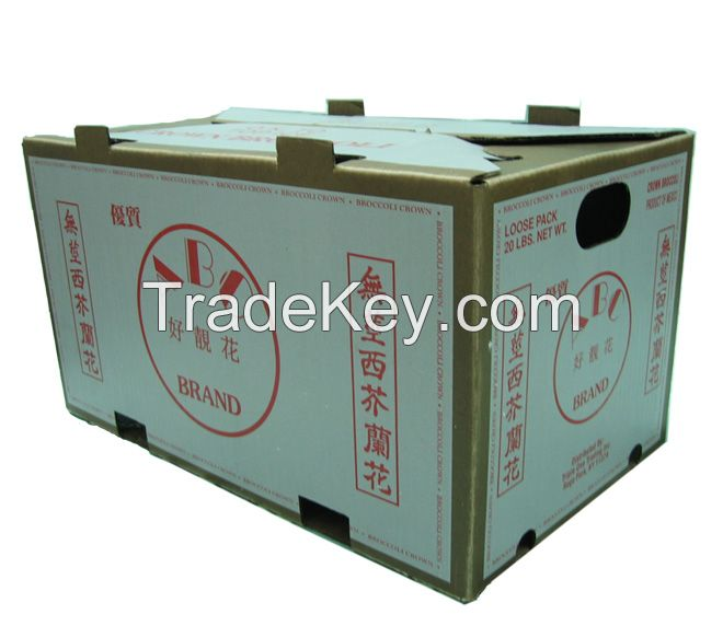 wax dipper carton boxes for vegetables and fruits