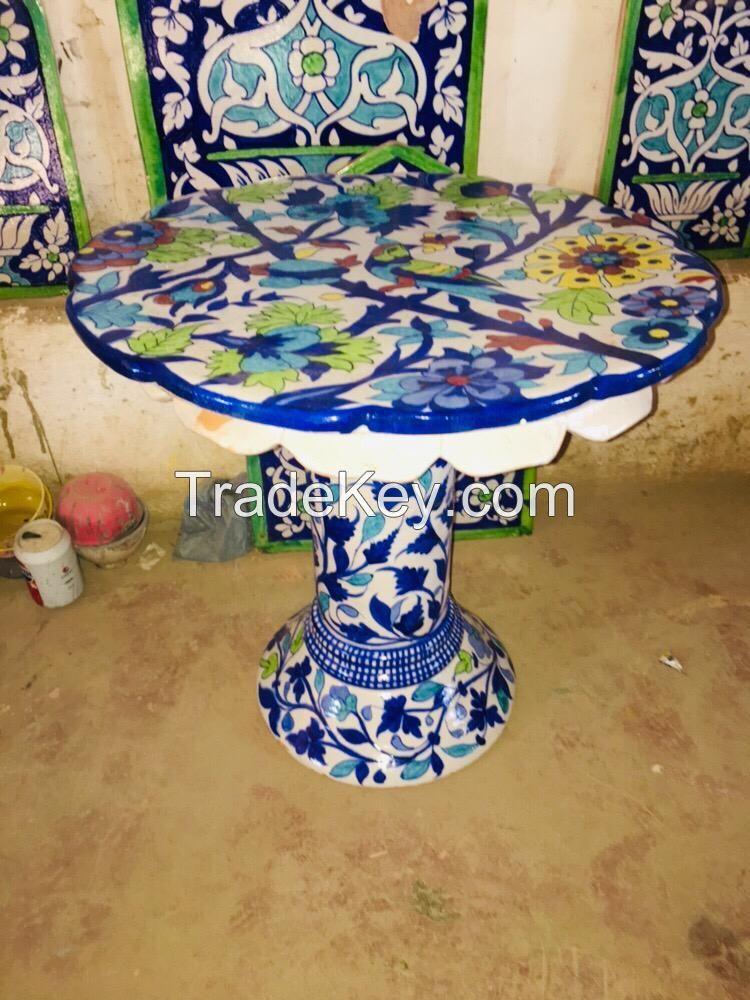 Ceramic Unique Round Central Table