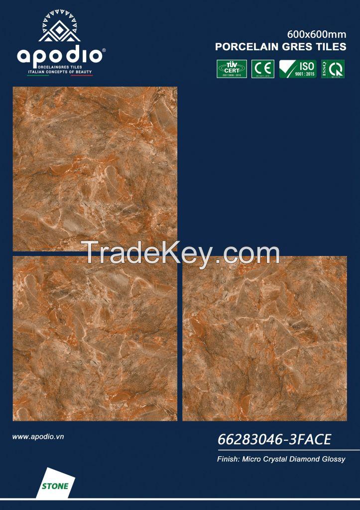 APODIO MICRO CRYSTAL DIAMOND GLOSSY TILE 600x600