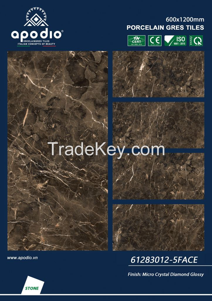 APOIDO MICRO CRYSTAL GLOSSY TILE 600x1200 - in VietNam