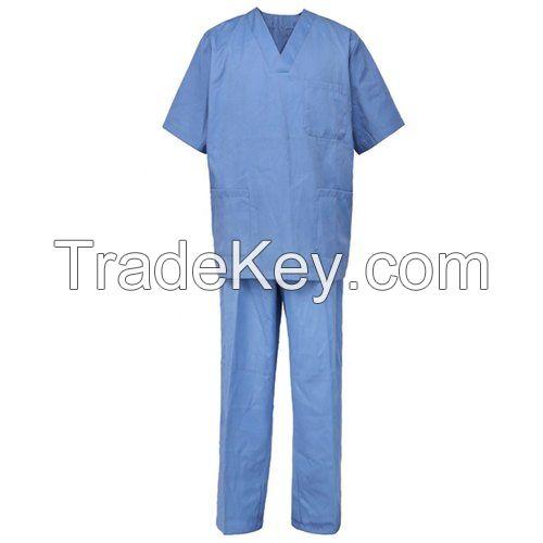 Doctor Uniforms Medical Nursing Scrubs Uniform Clinic Scrub Sets Short Sleeve Tops+Pants Uniform
