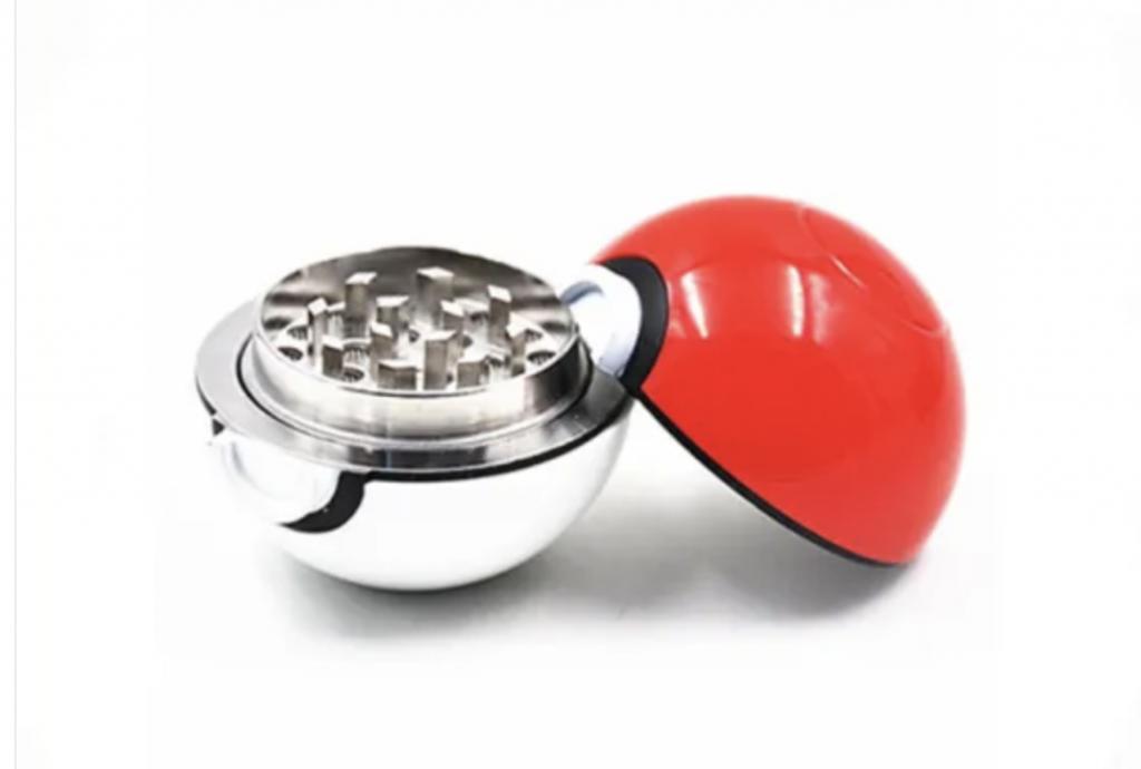 Smoking Accessories 53mm 3 Parts Metal Zinc Alloy Pokeball Spice Grinder