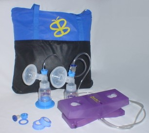 VersaPed Foot-Powered Breast Pump (with Non-Massaging flanges)