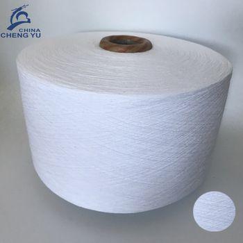 Hilos regenerados de algodon en mezcla de poliester para calcetines