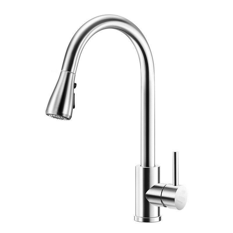 Yescom Kitchen Sink Basin Mixer Faucet Watermark WELS Laundry Mixer Tap Faucet Chrome Brass Swivel Pull Out Down