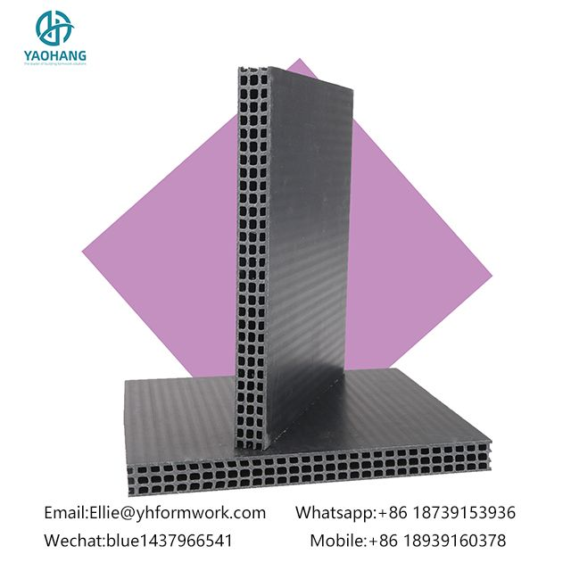 Waterproof Hollow Plastic Formwork used for Construction Building