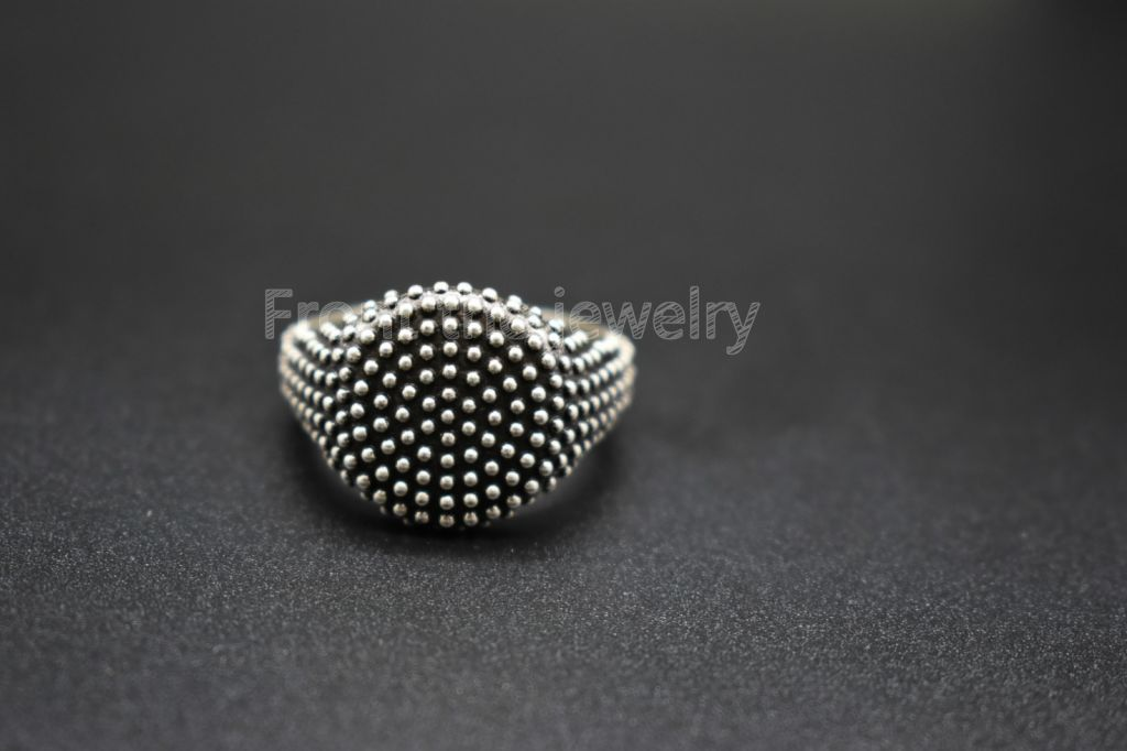 European punk gothic rock style titanium steel men's ring