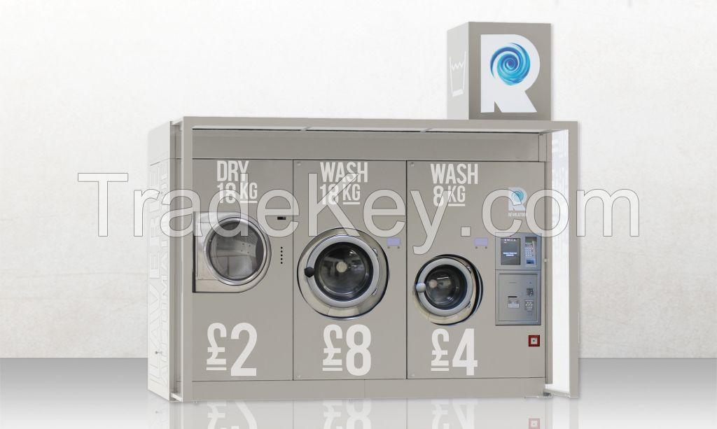Revolution Launderette - Washing Machine + Dryer - 24/7 Self-Service