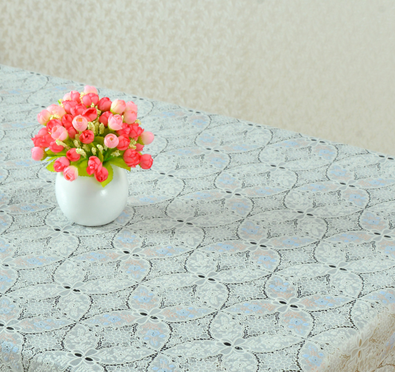 100% Vinyl lace tablecloth series