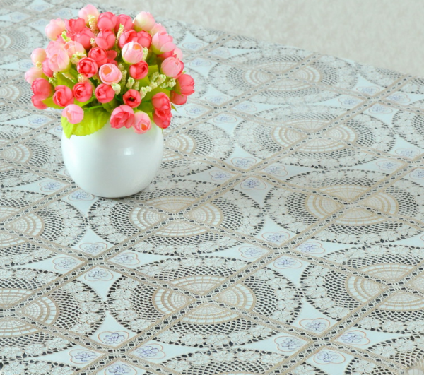 Modern style lace tablecloth for wedding