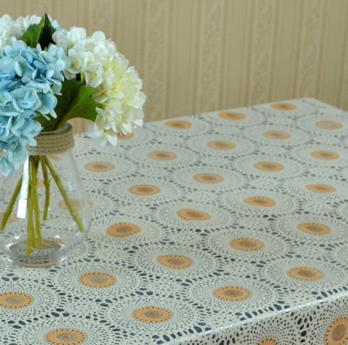 Easy wipe lace tablecloth for home decorations