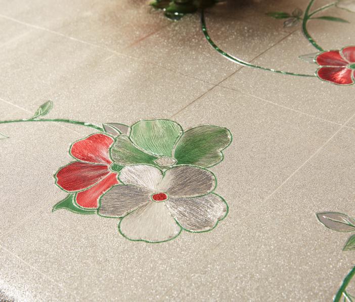 Metal embossed priting Tablecloth