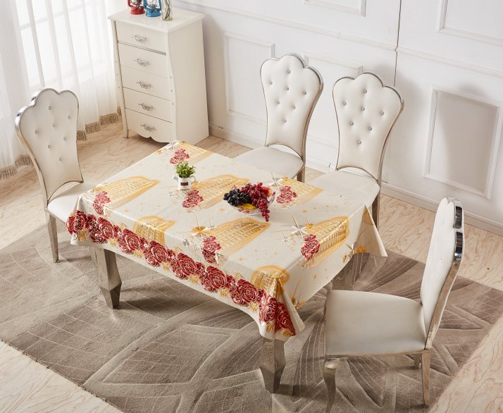 Muslim style embossed priting Tablecloth