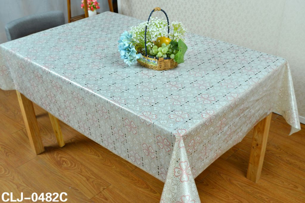PVC lace table cloth china home used white table cloths for wedding party