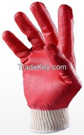 Safety Latex Dipping Cotton Glove 9inch Red 10 Gauge Cheap