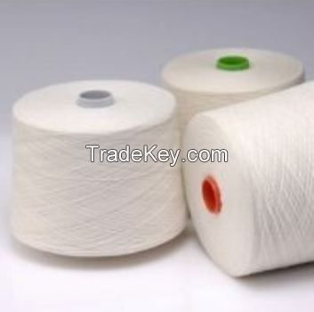 Regenerated Poly/Cotton Yarn O/E Ne 3-20s Natural White Cheap