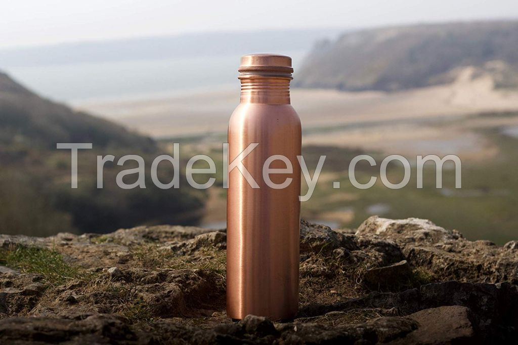 Copper Bottles Hammered 1 Liter for Drinking Water