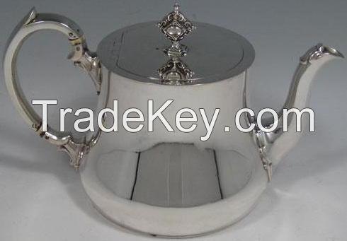 Brass Teapot Nickel Plated