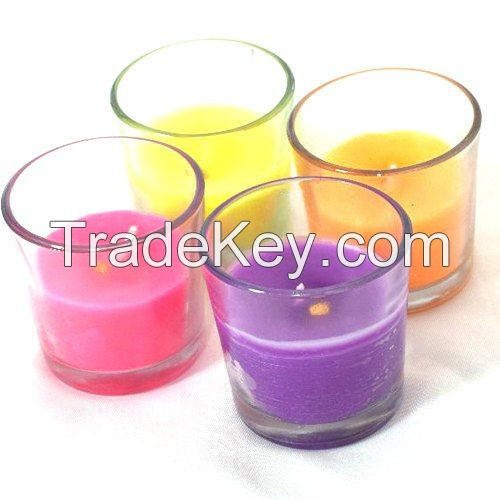 Lighting Glass Wax Candles, for Decoration