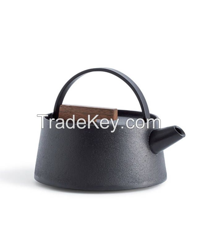 Cast Iron Teapots Stainless Steel Infuser