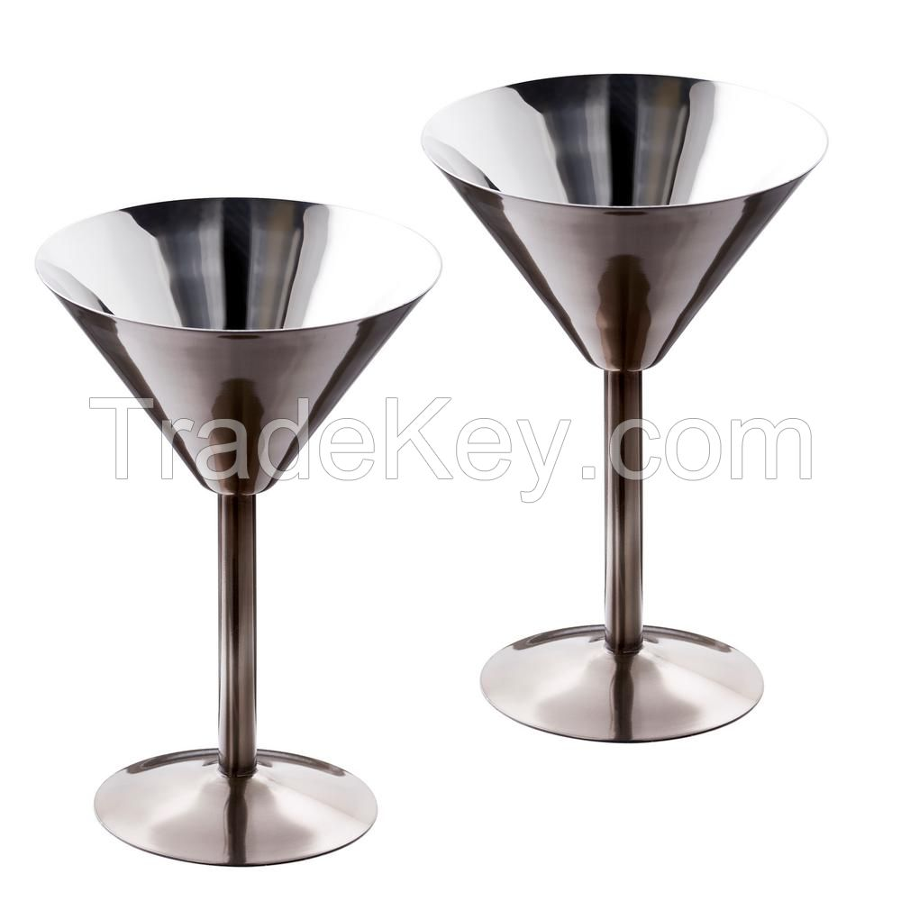 Stainless Steel Cocktail Martini Glass