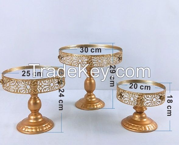 Round Metal Cake Stand Plate Home Wedding Birthday Party cake stand