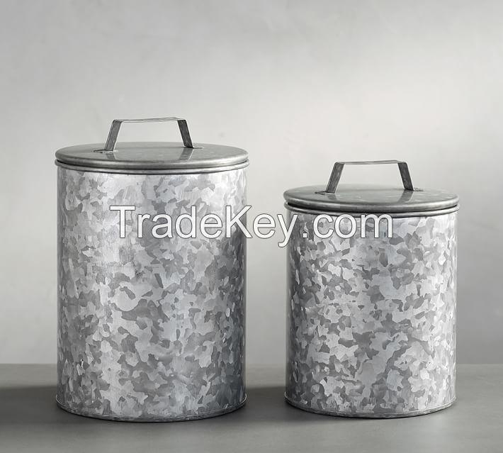Essential Kitchen Storage 3-Piece Metal Canister Set