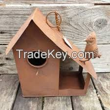 Rusty Metal Birdhouses