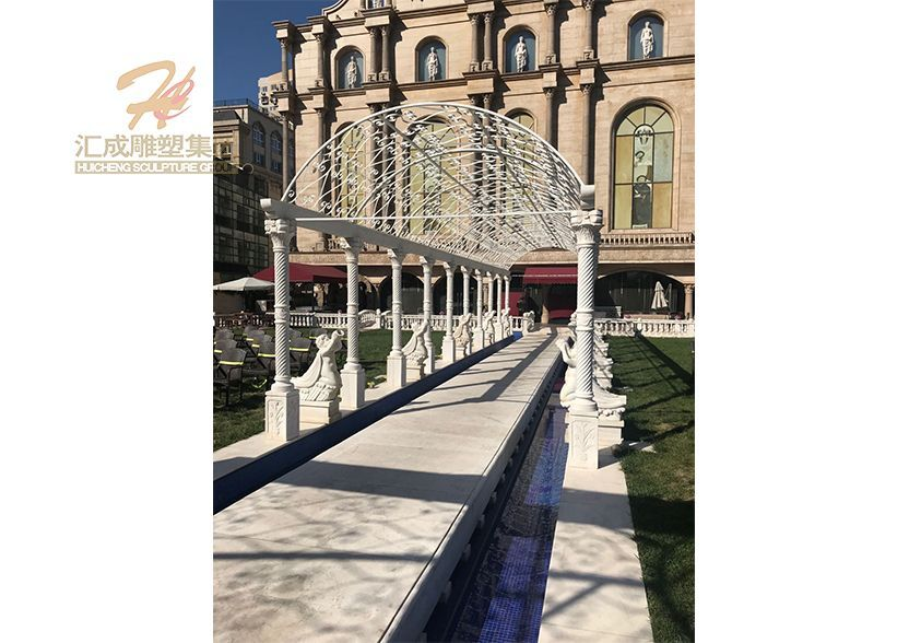 Customized Design Luxury Gazebo Marble Hand Carving