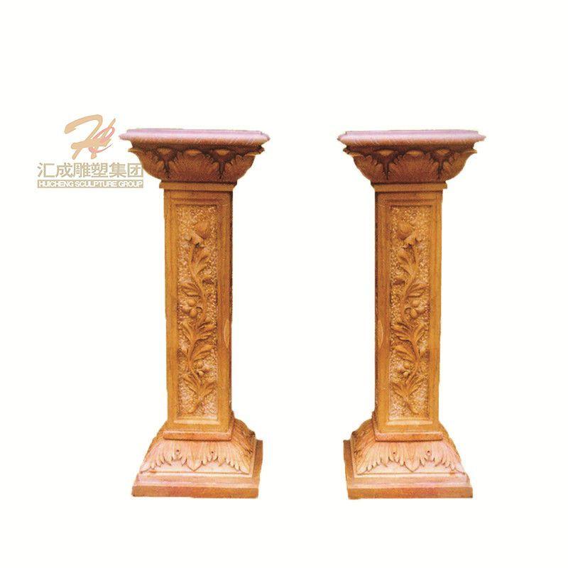 Factory Supply Modern White Marble Column Decorative Pillar