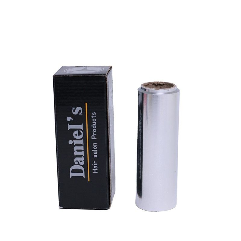 Silver disposable embossed hairdressing aluminum foil roll