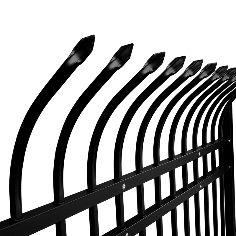 Cheap powder Coated Galvanized steel picket metal fence