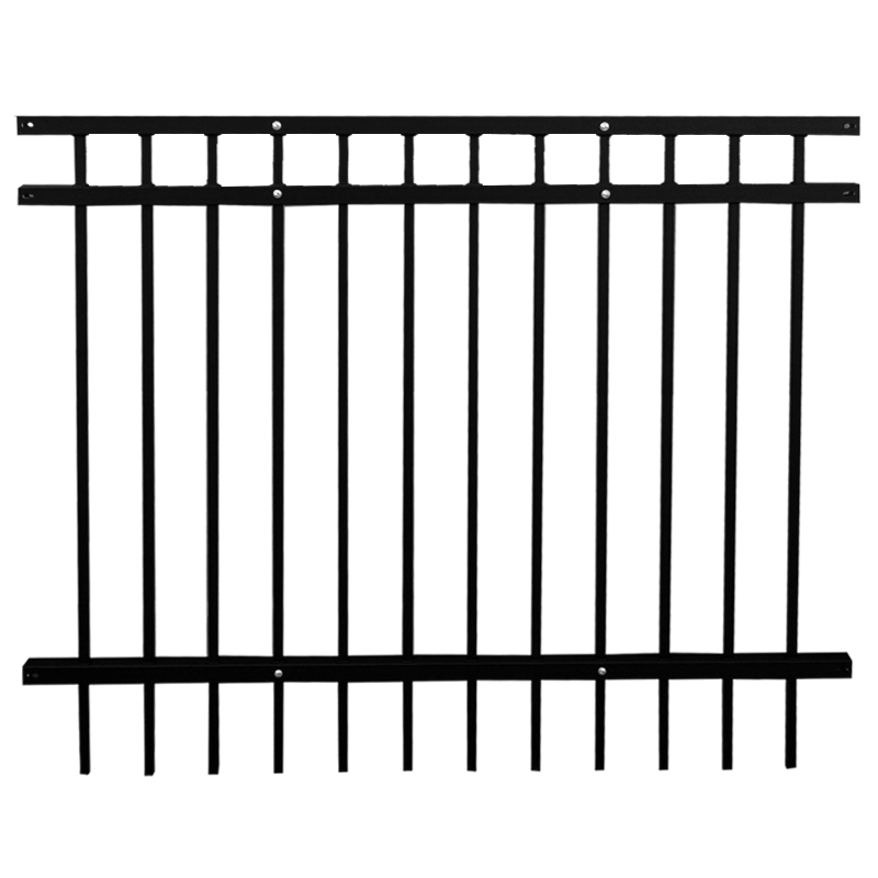 Waterproof Power Coated Wall Boundary Steel Grills Fence