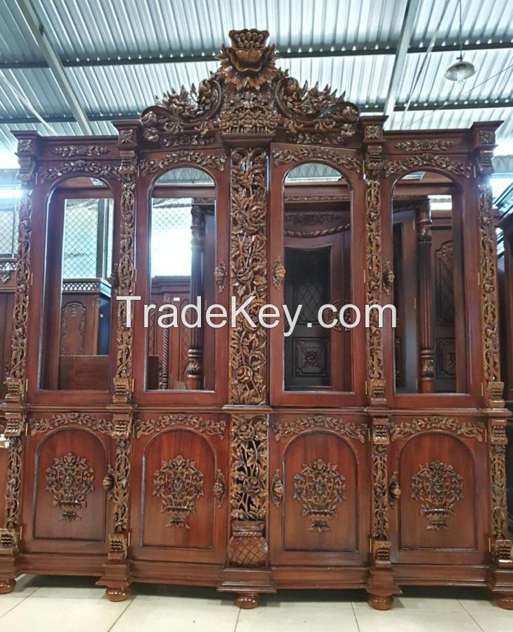 Shima Display Wood Cabinet