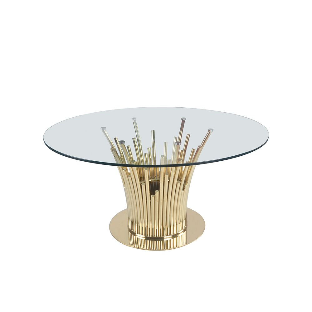 metal base coffee table with tempered glass top