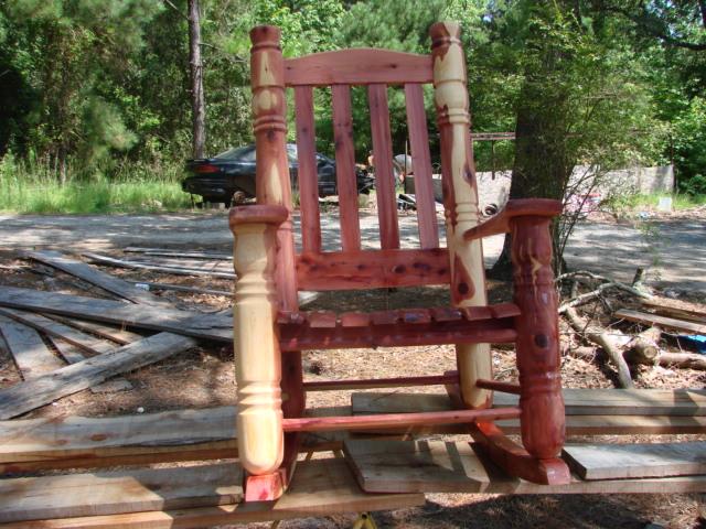 Cedar Big Post Rocking Chair