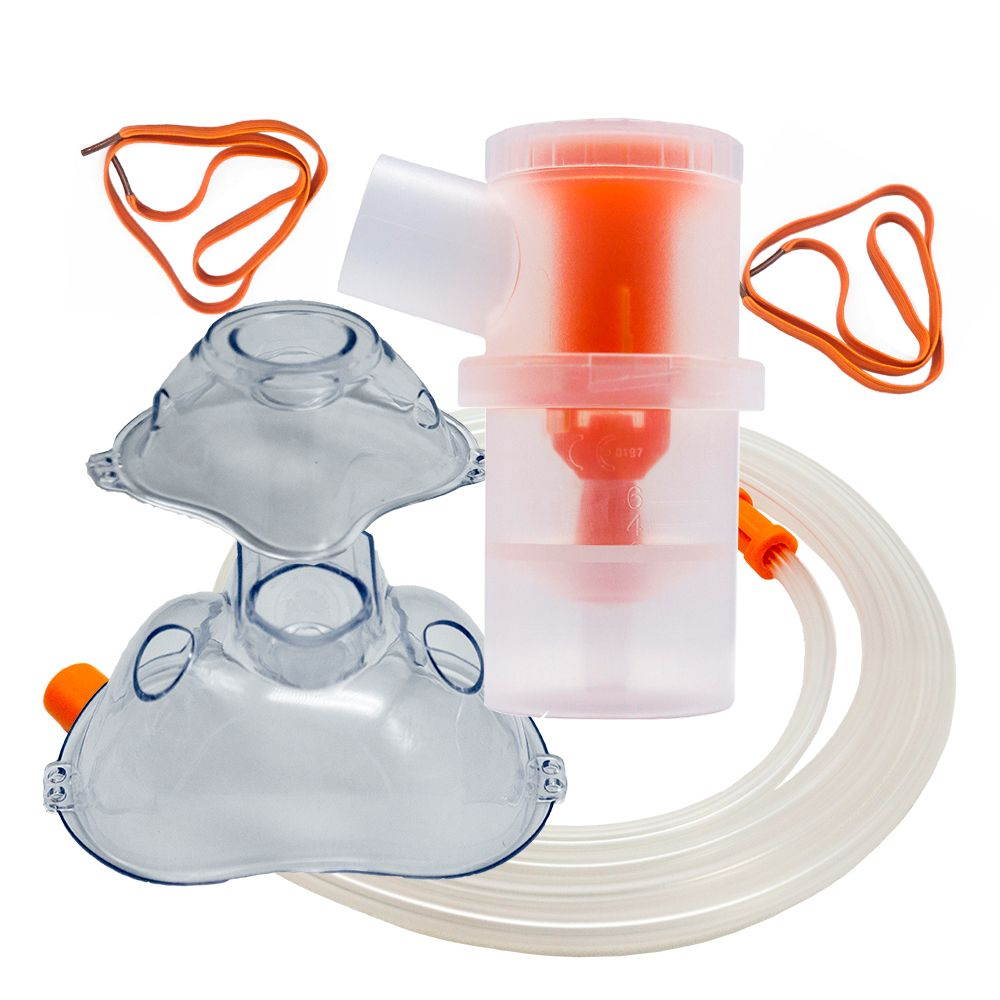 Medical Disposable Atomizer Cup Hospital Nebulizer Kit With Oxygen Mask