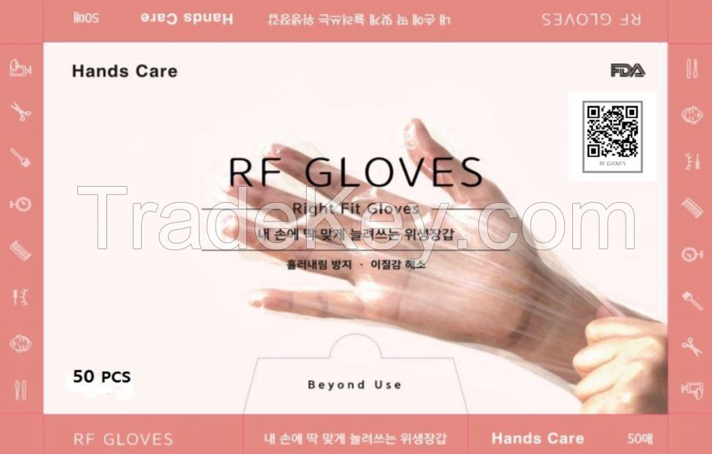 Right-fit gloves (Corona gloves, Better than Latex gloves, Korea)