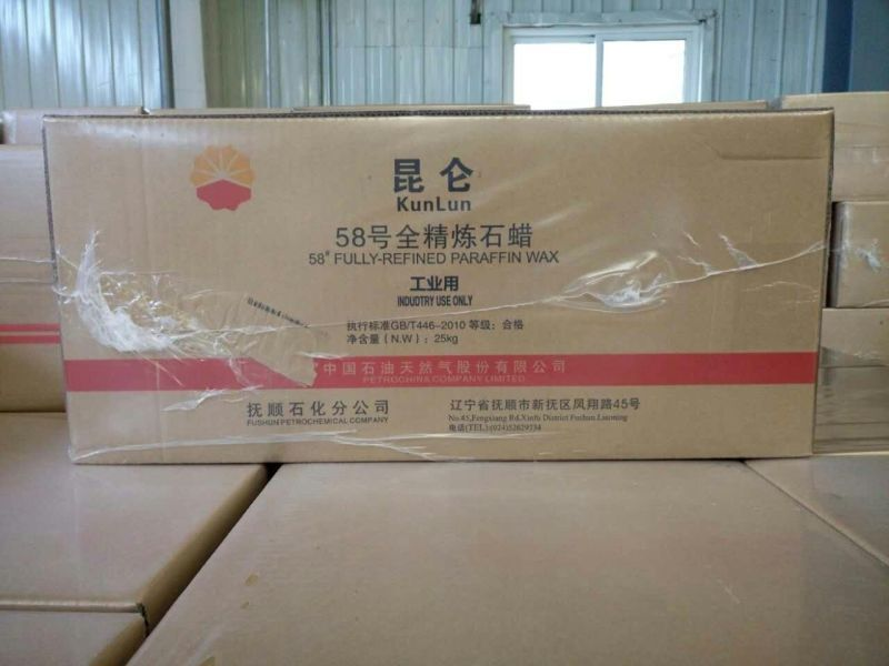 Paraffin Wax, Fully AND Semi Refined, 52-70, Kunlun Brand, Wholesale Price, For PVC/Candle/Hot Melt Adhensive, etc